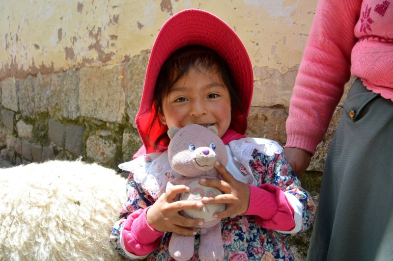 kindje in Cusco