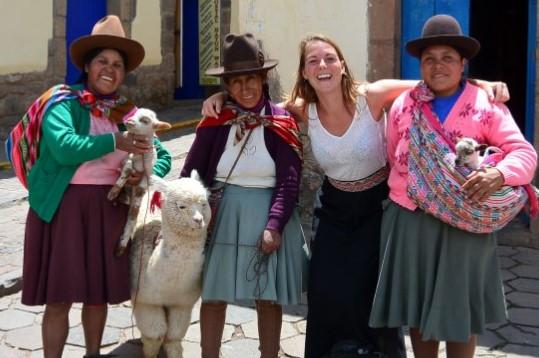 Peruaanse vrouwtjes in Cusco homepage